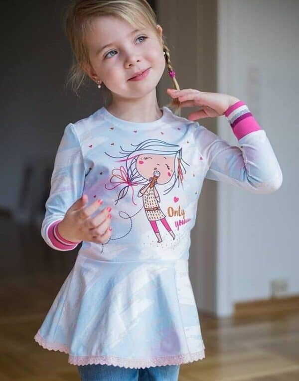 Schnittmuster Volant Shirt Kinder
