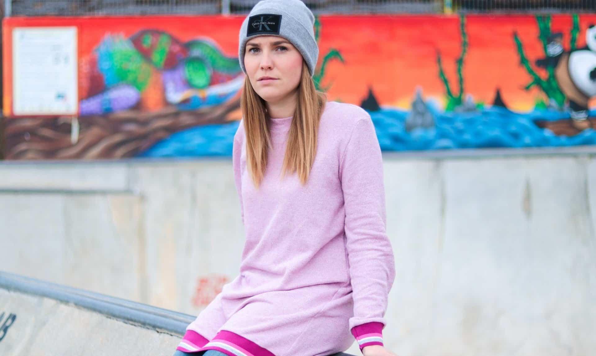 Neues Schnittmuster: Longshirt Rania mit Rückenausschnitt