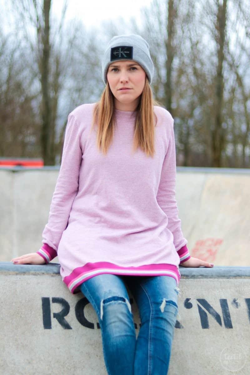 Neues Schnittmuster: Longshirt Rania mit Rückenausschnitt - Bild 1 | textilsucht.de