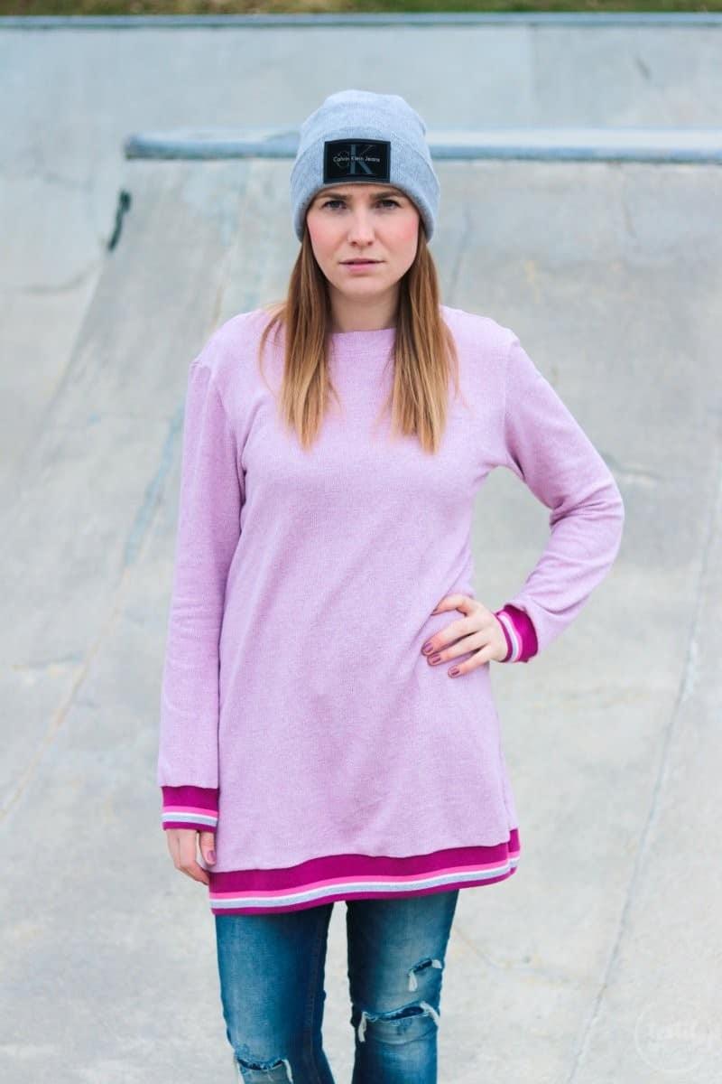 Neues Schnittmuster: Longshirt Rania mit Rückenausschnitt - Bild 3 | textilsucht.de
