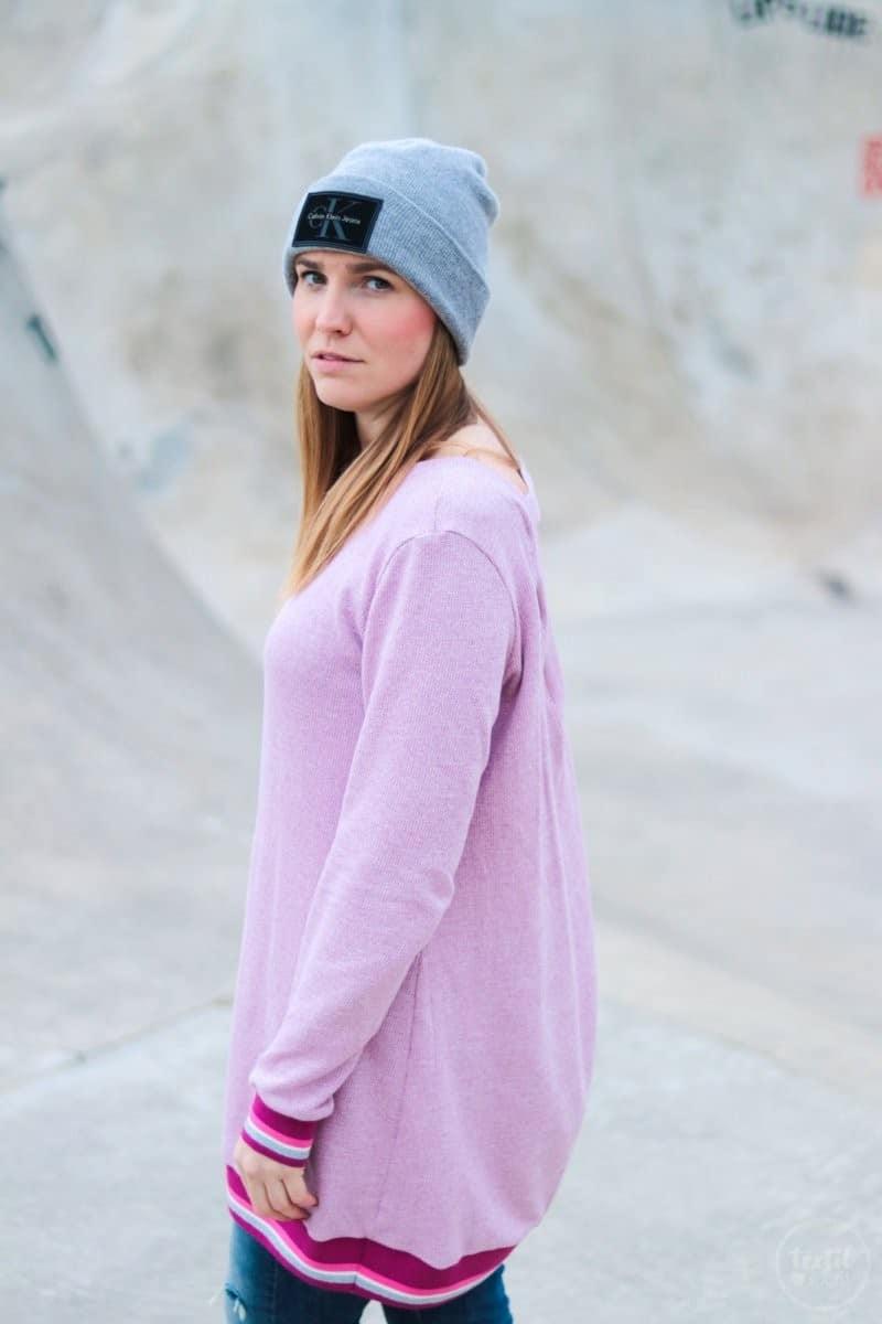 Neues Schnittmuster: Longshirt Rania mit Rückenausschnitt - Bild 5 | textilsucht.de