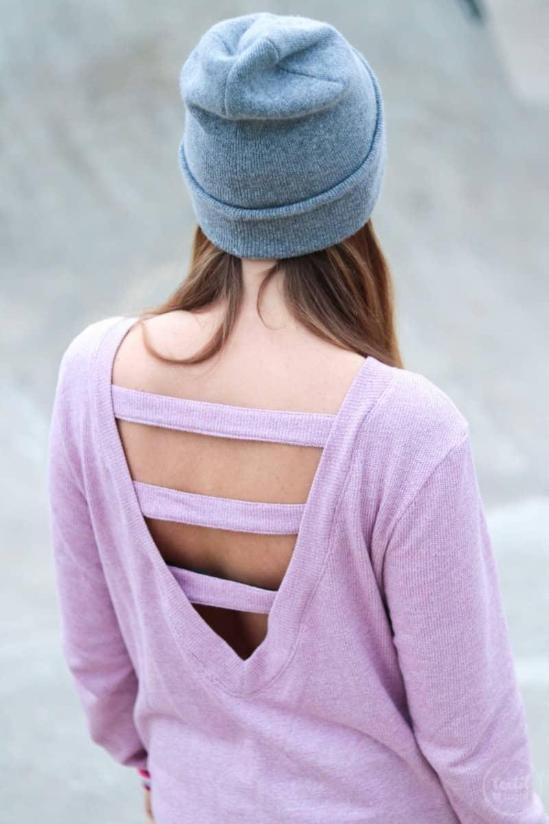 Neues Schnittmuster: Longshirt Rania mit Rückenausschnitt - Bild 6 | textilsucht.de