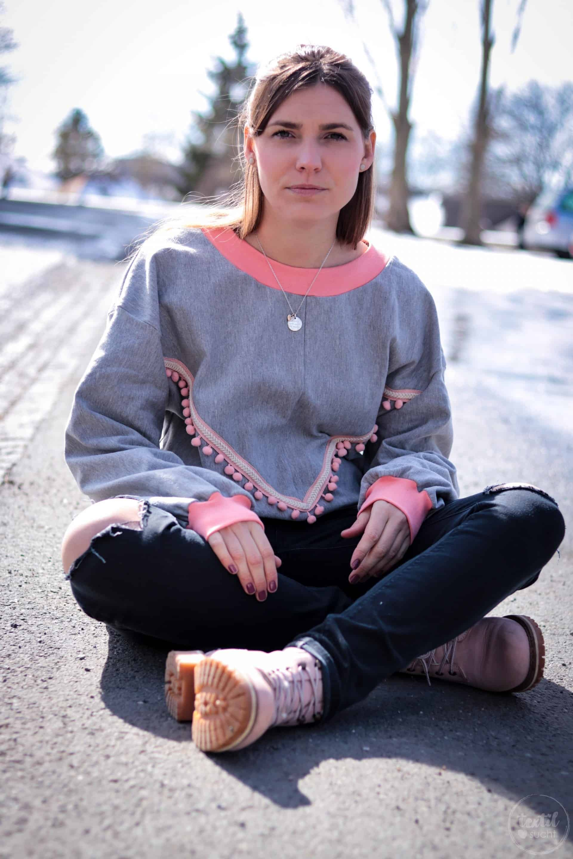 Neues Schnittmuster - Oversize Sweater India - Bild 5 | textilsucht.de