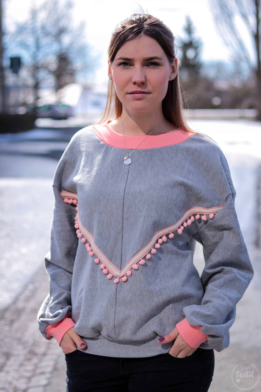 Neues Schnittmuster - Oversize Sweater India - Bild 6 | textilsucht.de