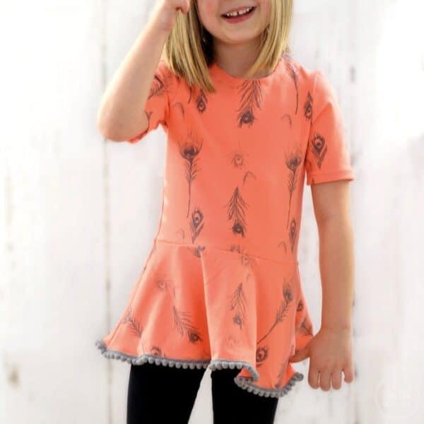Schnittmuster Volant Shirt Nastja für Kinder - inkl. Nähanleitung