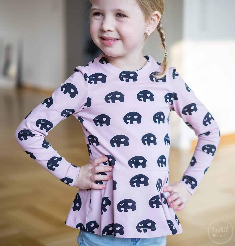 Schnittmuster Volant Shirt Nastja für Kinder - inkl. Nähanleitung ...