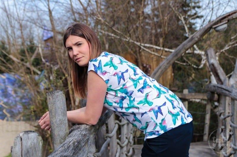 Schnittmuster Shirt Amylee aus Kolibri Jersey von AFS - textilsucht.de