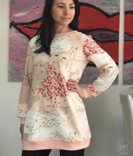 Schnittmuster Longshirt mit Rückenausschnitt - textilsucht (1)