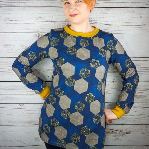 Schnittmuster Longshirt mit Rückenausschnitt - textilsucht (15)