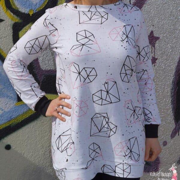 Schnittmuster Longshirt mit Rückenausschnitt - textilsucht (8)