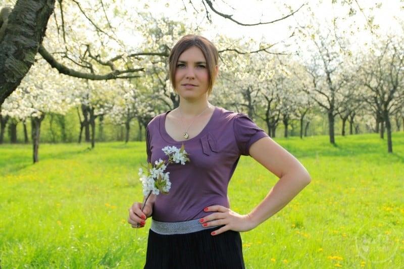Schnittmuster Shirt Venla: Verspielt in den Frühling