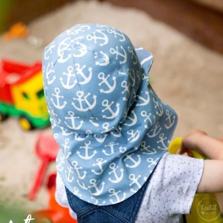Schnittmuster Badehut / Schirmütze mit Nackenschutz für Kinder