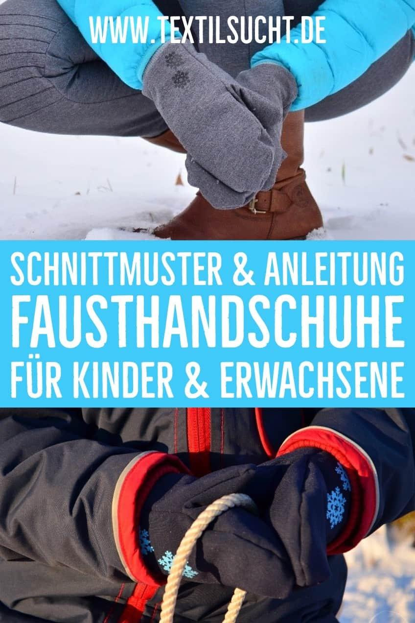 Nähanleitung für Handschuhe Kinder und Damen 7 Größen als Ebook Schnitt