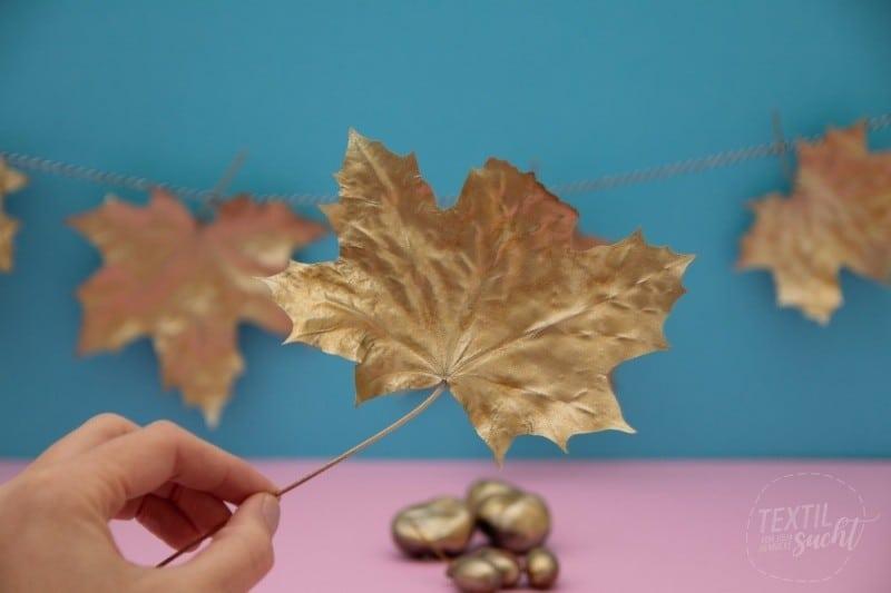 DIY goldene Herbstdeko
