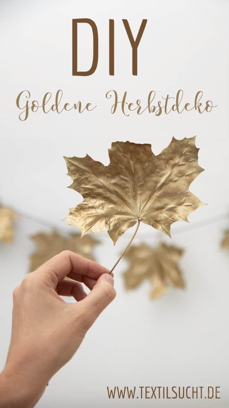 Herbstdeko aus Blättern selber basteln