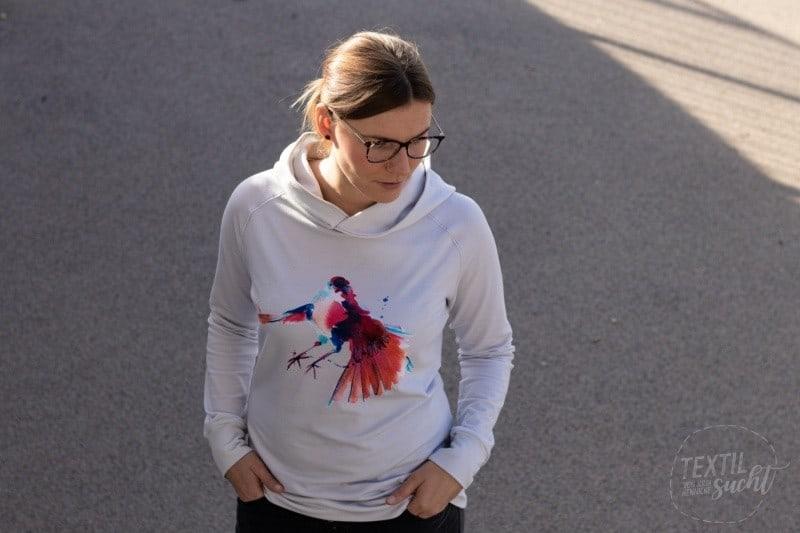 Schnittmuster Sweater Kuschelwarm aus Bio Sommer Sweat von textilsucht