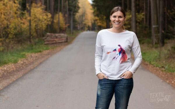 Schnittmuster Longshirt aus Bio Sommer Sweat von textilsucht