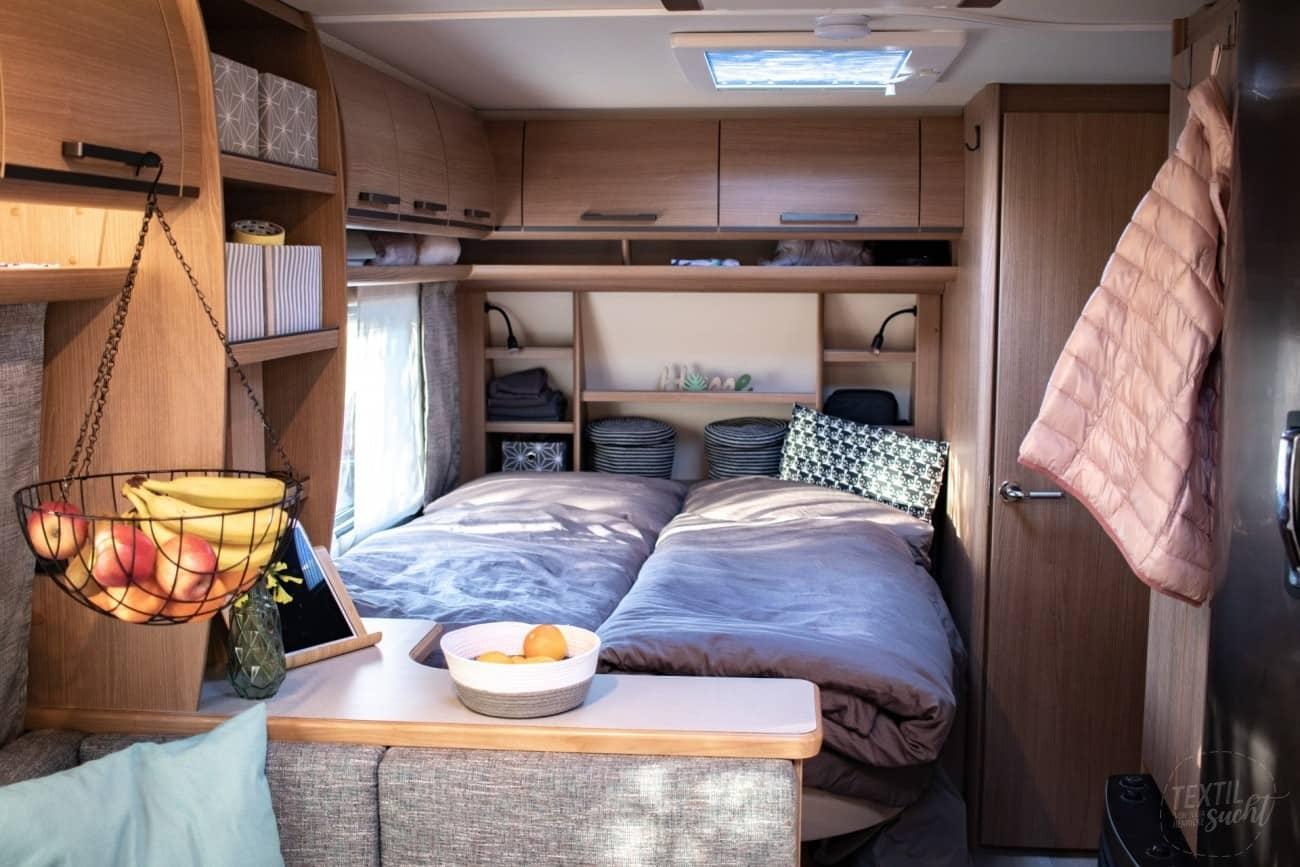 Blick ins Schlafzimmer Fendt Saphir SKM 650