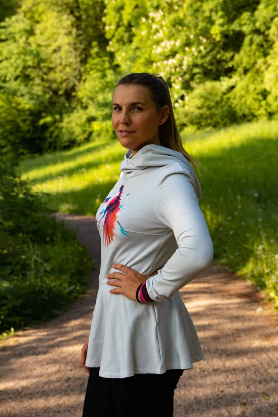 Schnittmuster Volant Shirt Nastja 2.0 für Frauen