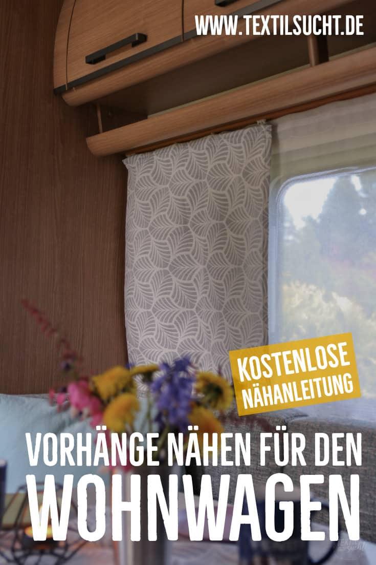 Nähen für den Wohnwagen: Gardinen nähen - PINTEREST IMAGE - Textilsucht.de