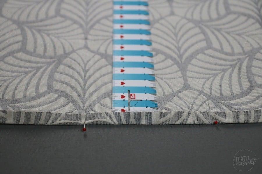Nähen für den Wohnwagen: Gardinen nähen - Schritt 2 - Textilsucht.de