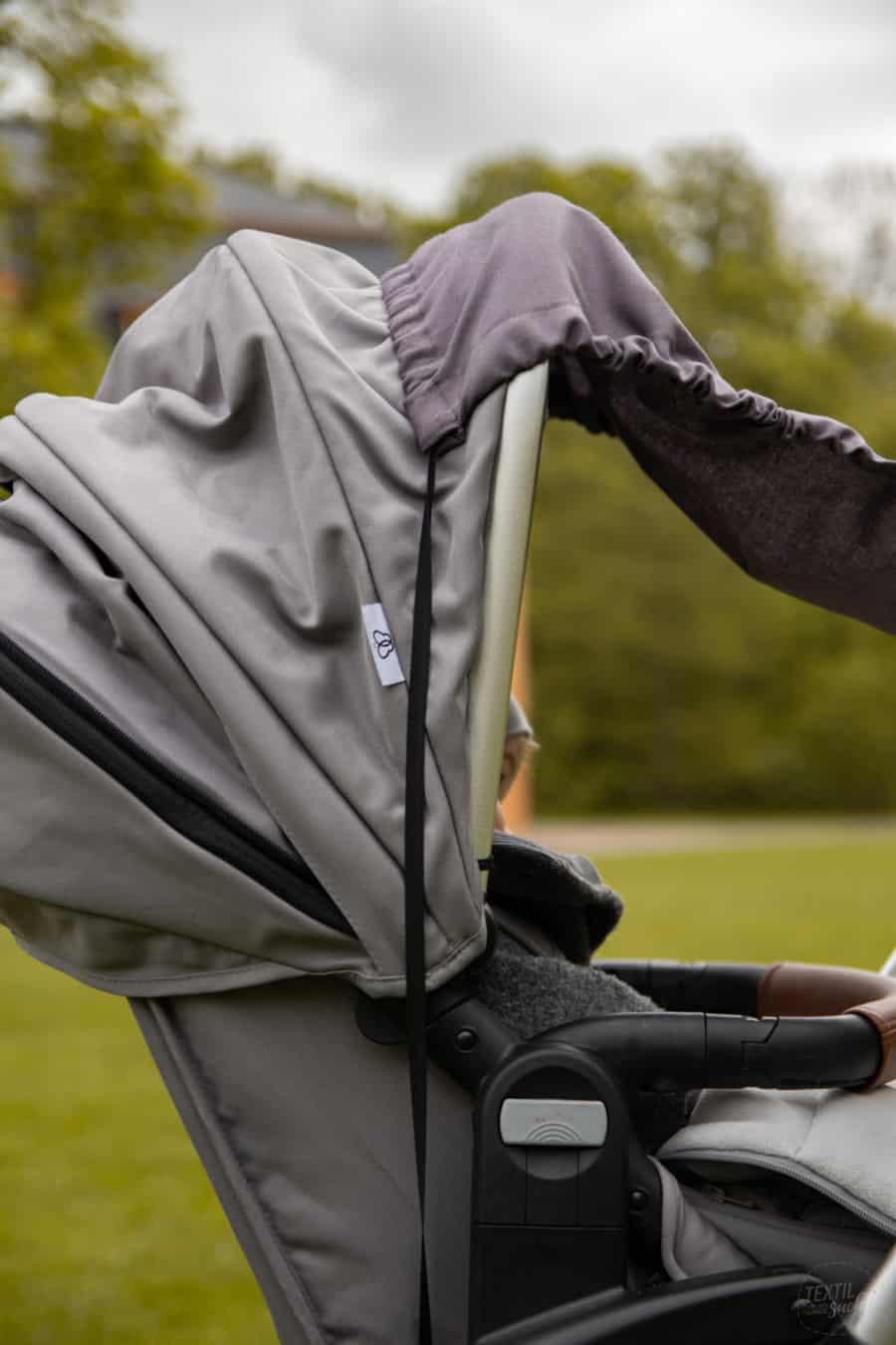 Sonnensegel für den Kinderwagen nähen: kostenloses Schnittmuster