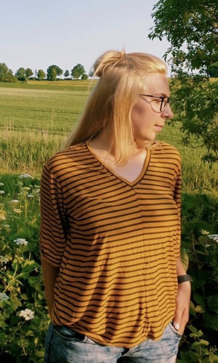 Designbeispiel Schnittmuster Shirt Nyima