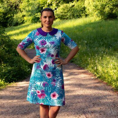 Schnittmuster Kleid mit Bubikragen von Textilsucht