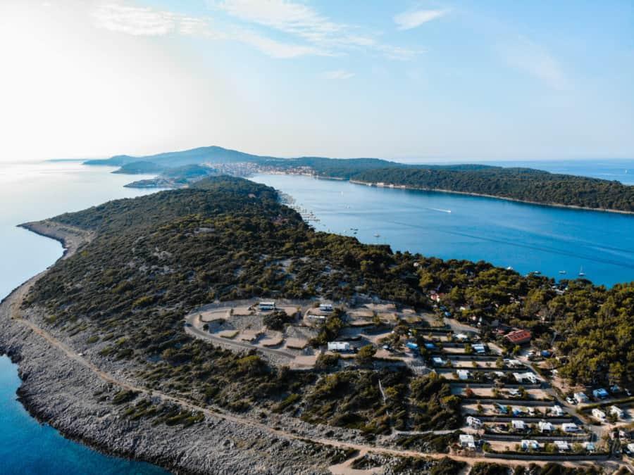 Camping Poljana aus der Luft