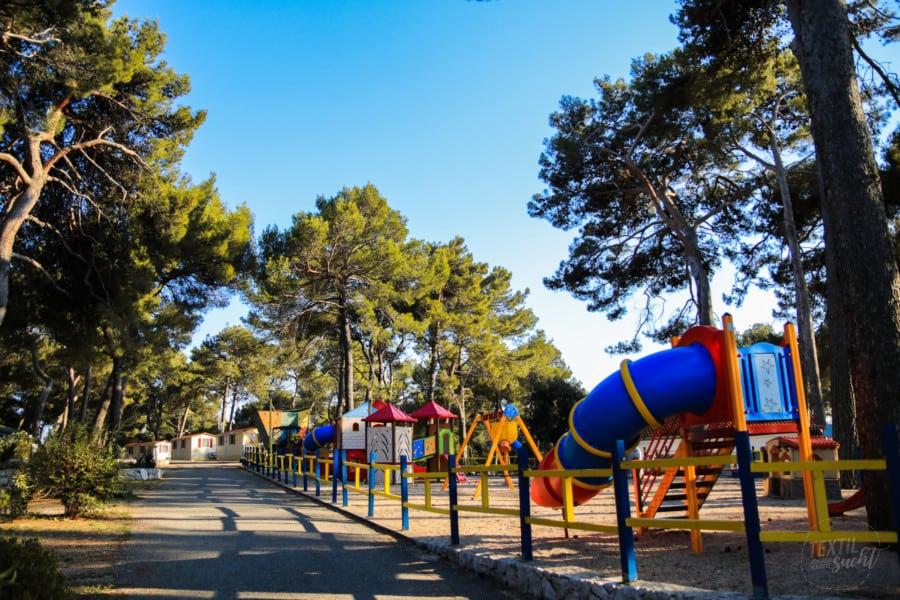 Der Spielplatz Camping Poljana