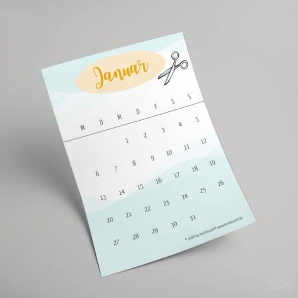 Nähkalender zum selber ausdrucken (PDF)