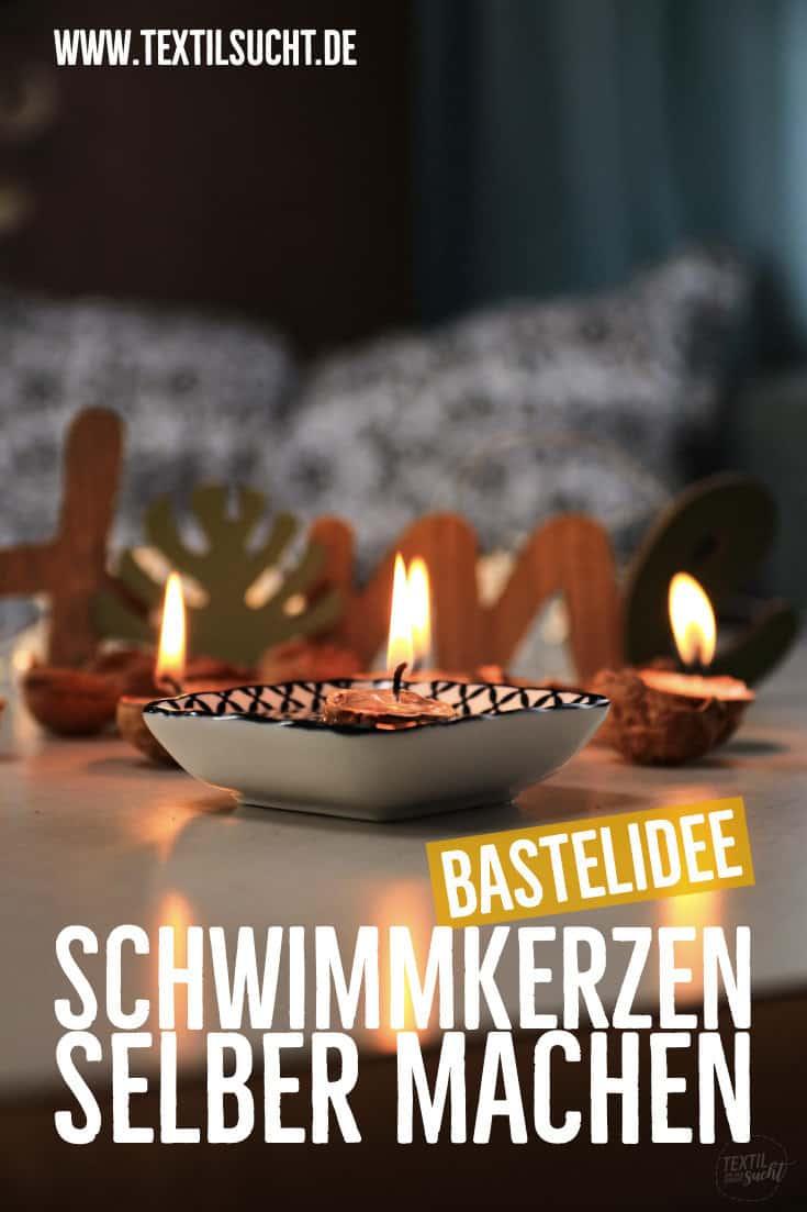 Nusschalen Kerzen basteln1
