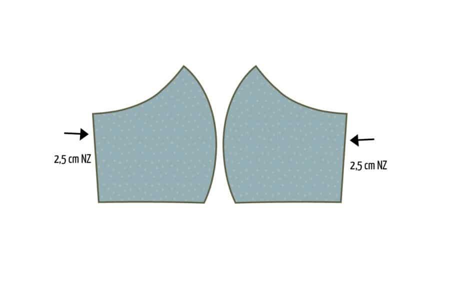 Atemschutzmaske nähen: kostenlose Anleitung zum Mundschutz nähen - Schritt 1