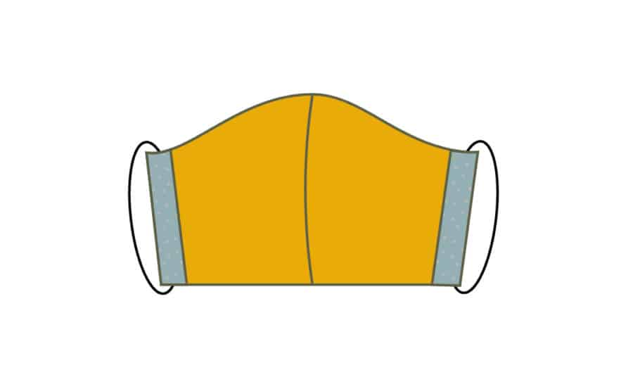 Atemschutzmaske nähen: kostenlose Anleitung zum Mundschutz nähen - Schritt 8