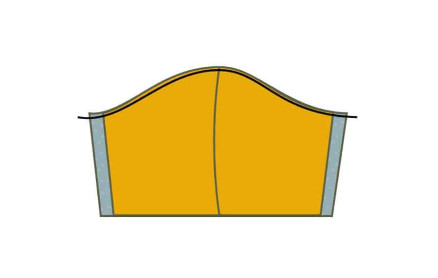 Atemschutzmaske nähen: kostenlose Anleitung zum Mundschutz nähen - Schritt 6.1