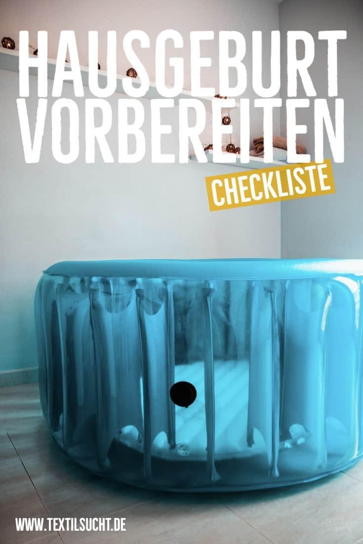 Hausgeburt Checkliste