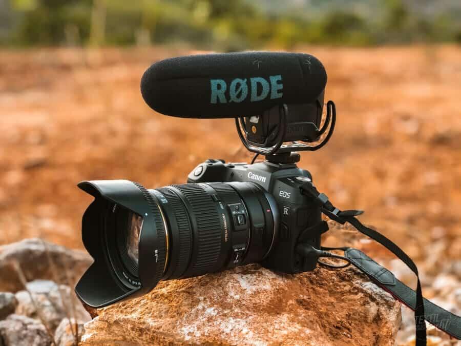 Foto- und Videoequipment auf Reisen -  EOS RP mit Rode Mikro