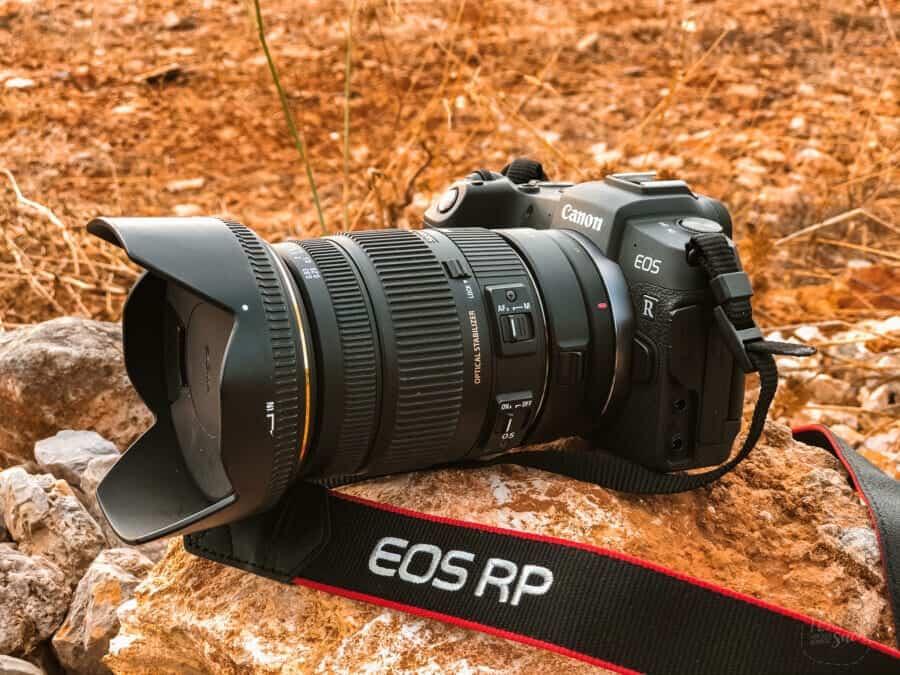 Foto- und Videoequipment auf Reisen -  EOS RP mit Sigma 18-50mm 2.8