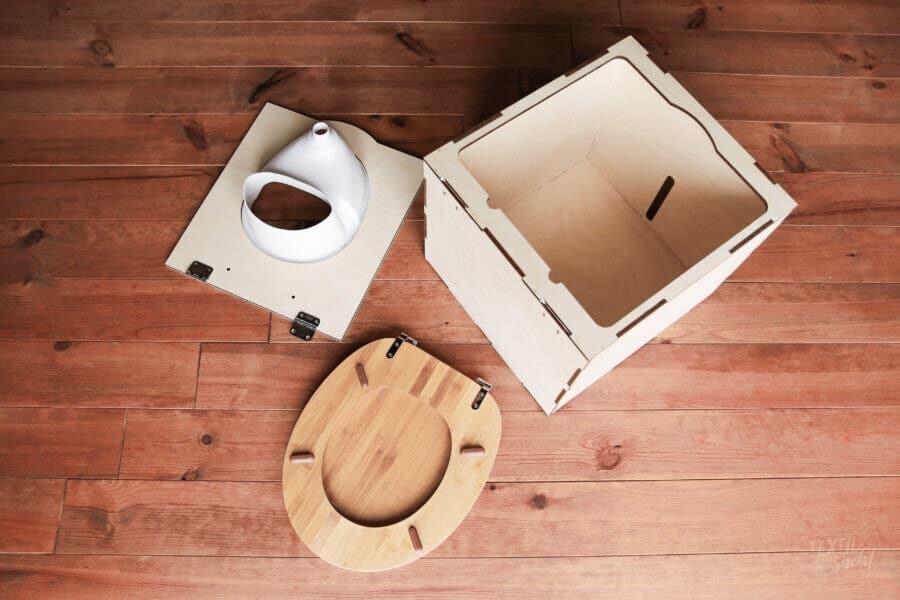 Aufbau Kildwick Bausatz Campingtoilette / Komposttoilette EasyLoo